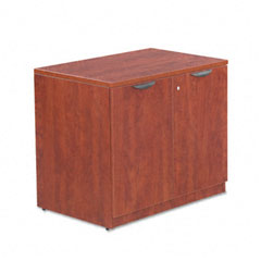 Alera - valencia series storage cabinet, 34w x 22-3/4d x 29-1/2h, medium cherry, sold as 1 ea
