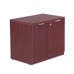 Alera - valencia series storage cabinet, 34w x 22-3/4d x 29-1/2h, mahogany, sold as 1 ea