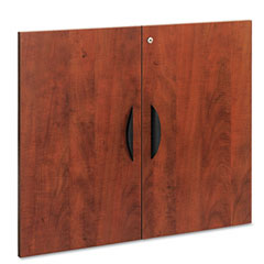 Alera - valencia series cabinet door kit for all bookcases, 32-inch x 26-inch, medium cherry, sold as 1 st