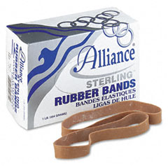 Alliance - sterling ergonomically correct rubber bands, #107, 7 x 5/8, 50 bands/1lb box, sold as 1 bx