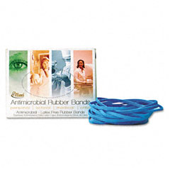 Alliance - antimicrobial cyan blue rubber bands, size 19, 3-1/2 x 1/16, 1/4lb box, sold as 1 bx