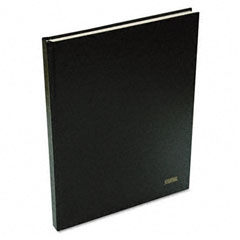 Ampad AMP43032 Executive Journal, Embossed Hardbound Cover, 10 x 7 1/4, Black