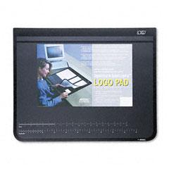 Artistic 41100S Logo Pad Desktop Organizer With Clear Overlay, 24 X 19, Black