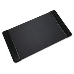 Artistic - executive desk pad with leather-like side panels, 36 x 20, black, sold as 1 ea