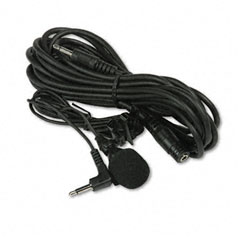 Amplivox - handsfree professional cardioid lapel microphone, 40 cord, 12' extension cable, sold as 1 ea