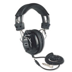 Amplivox - deluxe stereo headphones w/mono volume control, black, sold as 1 ea