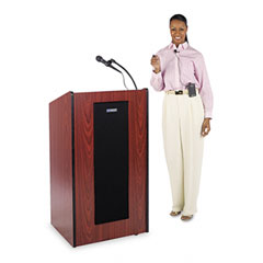 Amplivox - presidential plus lectern, 25-1/2w x 20-1/2d x 46-1/2h, mahogany, sold as 1 ea