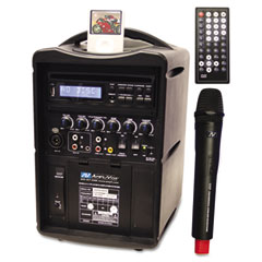 Amplivox - ipod wireless pa system, 30w amp, sold as 1 ea