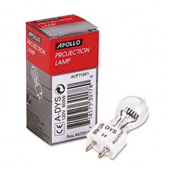 Apollo - replacement bulb for buhl/bell&howell/eiki/da-lite/3m projectors, 120 volt, sold as 1 ea