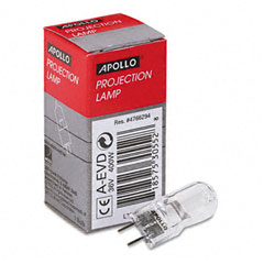 Apollo - replacement bulb for 3m 9550, 9800 overhead projectors, 36 volt, sold as 1 ea