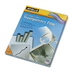 Apollo - laser copier transparency film, letter, clear, 100/box, sold as 1 bx