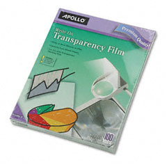 Apollo - write-on transparency film, letter, clear, 100/box, sold as 1 bx