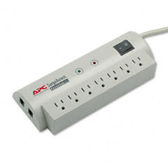 Apc - surgearrest personal pwr surge protector w/tel protect, 7 outlets, 6ft cord, sold as 1 ea