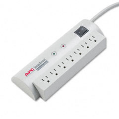 Apc - surgearrest professional power surge protector, 7 outlets, 6ft cord, sold as 1 ea