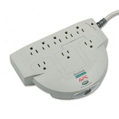 Apc - professional surgearrest surge protector, 8 outlets, 6 ft cord, sold as 1 ea