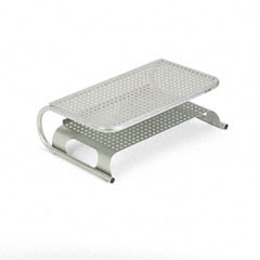 Allsop - metal desktop printer/monitor stand, 19 x 12 1/2 x 6, pewter, sold as 1 ea