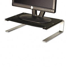 Allsop - redmond monitor stand, 14 5/8 x 11 x 4 1/4, black/gray/silver, sold as 1 ea