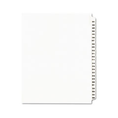Avery - avery-style legal side tab divider, title: 301-325, letter, white, 1 set, sold as 1 st