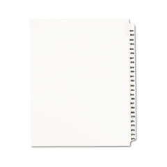 Avery - avery-style legal side tab divider, title: 351-375, letter, white, 1 set, sold as 1 st
