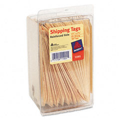 Avery - shipping tags, 2-3/8 x 4-1/4, manila, 100/pack, sold as 1 pk