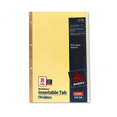 Avery - worksaver insertable tab index dividers, 8-tab, legal, clear, 8/set, sold as 1 st