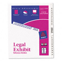 Avery - avery-style legal side tab divider, title: 26-50, letter, white, 1 set, sold as 1 st