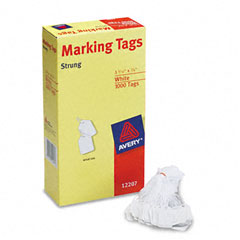 Avery - white marking tags, paper, 1-3/32 x 3/4, white, 1000/box, sold as 1 bx
