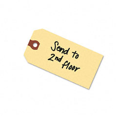 Avery - shipping tags, paper, 4-3/4 x 2-3/8, manlia, 1000/pack, sold as 1 bx
