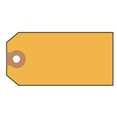 Avery - shipping tags, paper, 4-3/4 x 2-3/8, yellow, 1000/pack, sold as 1 bx