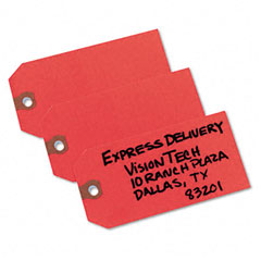 Avery - shipping tags, paper, 4-3/4 x 2-3/8, red, 1000/pack, sold as 1 bx