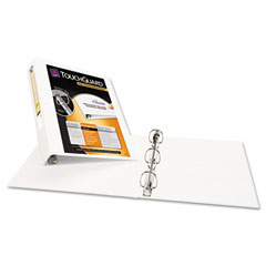 "Avery 17142 Antimicrobial View Binder W/One-Touch Ezd Rings, 1-1/2"" Capacity, White"