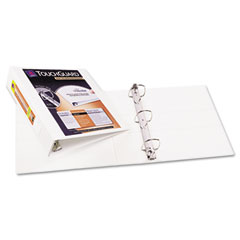 "Avery 17143 Antimicrobial View Binder W/One-Touch Ezd Rings, 2"" Capacity, White"