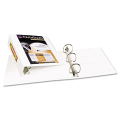 "Avery 17144 Antimicrobial View Binder W/One-Touch Ezd Rings, 3"" Capacity, White"