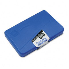 Carter's - micropore stamp pad, 4 1/4 x 2 3/4, blue, sold as 1 ea