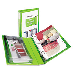 Avery - protect & store view mini binder, round ring, 5-1/2 x 8-1/2, 1-inch capacity, green, sold as 1 ea