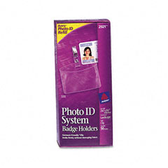 Avery - photo id badge holder, horizontal, 2 1/4w x 3 1/2h, clear, 50/box, sold as 1 bx