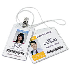 Avery - photo id badge holder, horizontal, 4w x 3h, clear, 100/box, sold as 1 bx