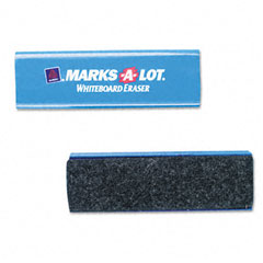 Marks-a-lot - dry erase eraser, felt, 5 1/2w x 1 7/8d x 1 1/4h, sold as 1 ea