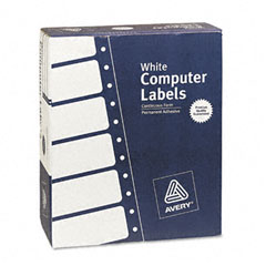 Avery 4033 Dot Matrix Printer Address Labels, 3 Across, 1-7/16 X 4, White, 15000/Box