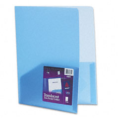 Avery - polypropylene pocket portfolio, translucent blue, sold as 1 ea