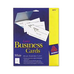Avery - laser business cards, 2 x 3 1/2, white, 10 cards/sheet, 250/pack, sold as 1 pk