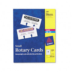 Avery - laser/inkjet rotary cards, 2 1/6 x 4, 8 cards/sheet, 400 cards/box, sold as 1 bx