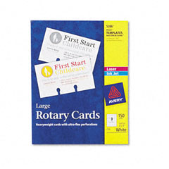 Avery - laser/inkjet rotary cards, 3 x 5, 3 cards/sheet, 150 cards/box, sold as 1 bx