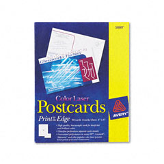 Avery - laser- and inkjet-compatible postcards, 4 x 6, two per sheet, 80/pack, sold as 1 pk
