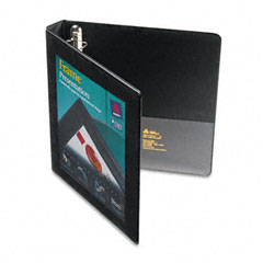 Avery - framed view binder with one touch locking ezd rings, 1-inch capacity, black, sold as 1 ea
