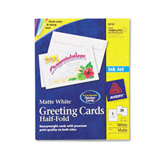 Avery - inkjet-compatible greeting cards with envelopes, 5-1/2 x 8-1/2, 30/box, sold as 1 bx