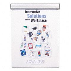 Advantus - grip-a-strip display rail, 9 x 1 1/2, aluminum finish, sold as 1 ea