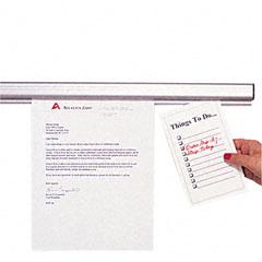 Advantus - grip-a-strip display rail, 48 x 1 1/2, aluminum finish, sold as 1 ea