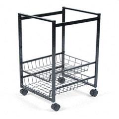 Advantus - mobile file cart w/sliding baskets, 15w x 12-7/8d x 20-7/8h, black, sold as 1 ea