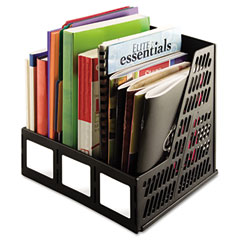 Advantus 34091 Literature File, Three Slots, Black